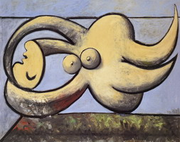 Pablo Picasso. Naked woman couchee