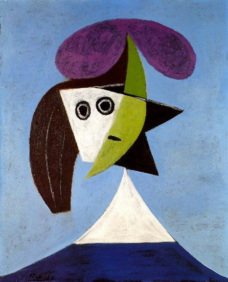 Pablo Picasso. Woman with hat, 1939