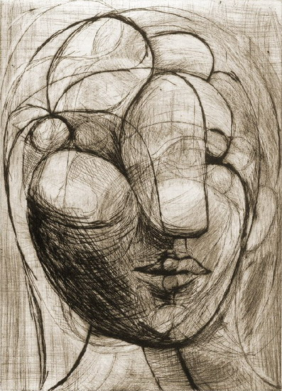 Pablo Picasso. Head of a Woman, 1936