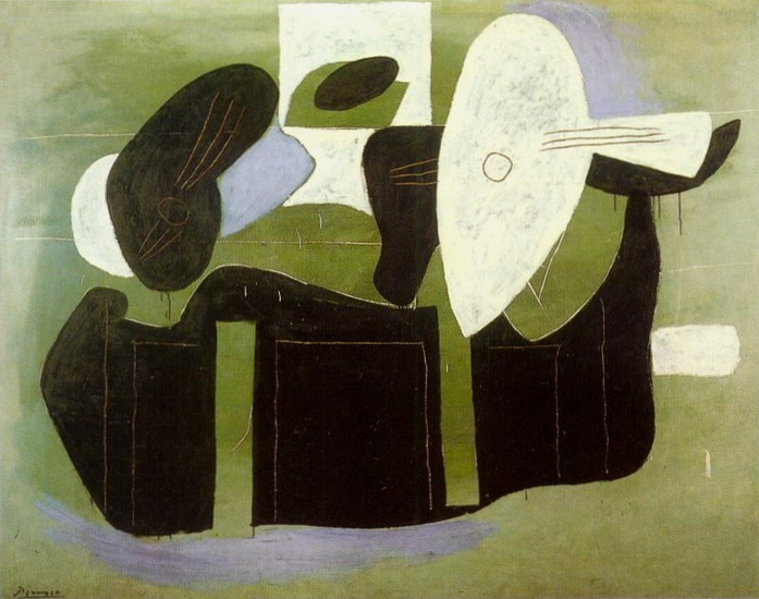 Pablo Picasso. Musical instruments on a table, 1926