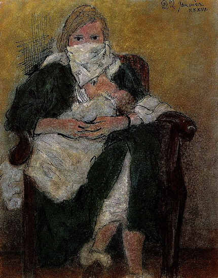 Pablo Picasso. Mother and Child (Marie-Therese Walter emmitouffle Maya), 1936