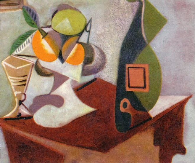 Pablo Picasso. Still life with lemon and oranges, 1936
