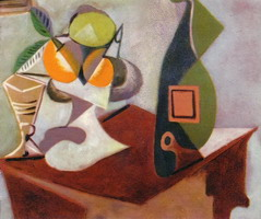 Still life with lemon and oranges