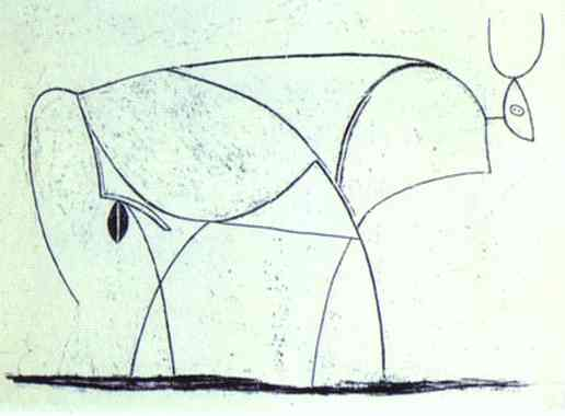 Pablo Picasso. The Bull. State X, 1946