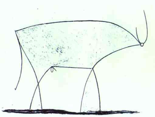 Pablo Picasso. The Bull. State XI, 1946