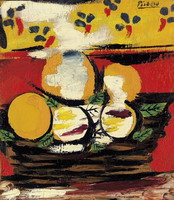 Pablo Picasso. Corbeille aux fruits