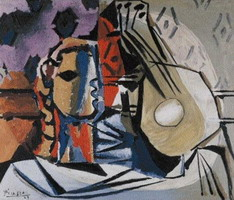 Pablo Picasso. Head and guitar