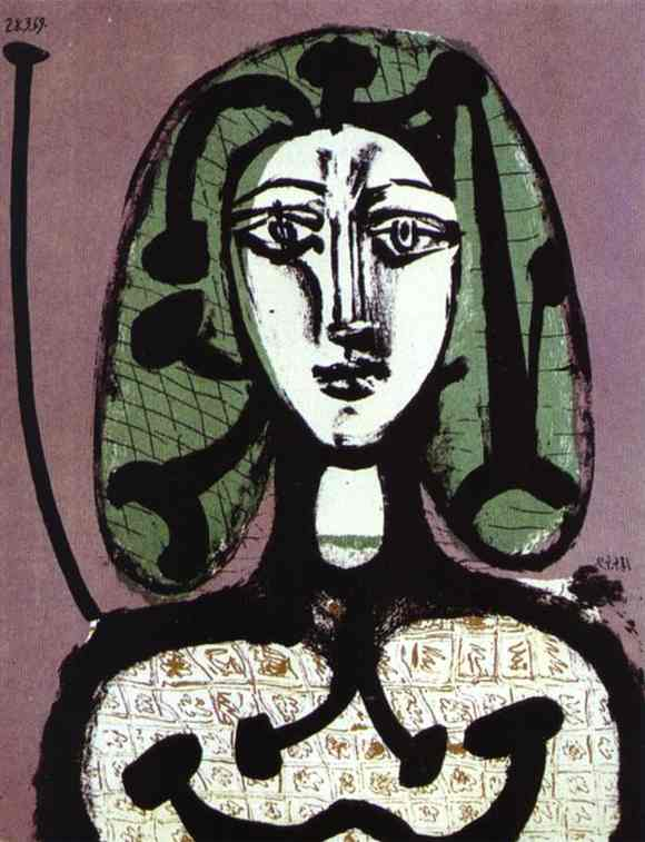 Pablo Picasso. Woman with Green Hair, 1949