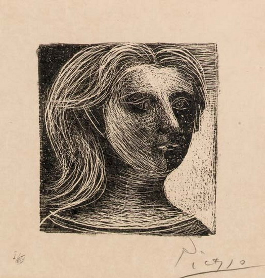Pablo Picasso. Head of a Woman, 1926