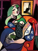 Pablo Picasso. Woman holding a book (Marie-Therese Walter), 1932