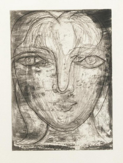 Pablo Picasso. Front head (Marie-Therese portrait Front), 1934