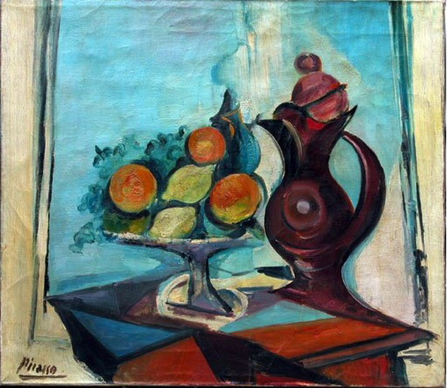 Pablo Picasso. Still life with pitcher, 1937