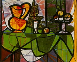 Pablo Picasso. Pitcher and fruit cup