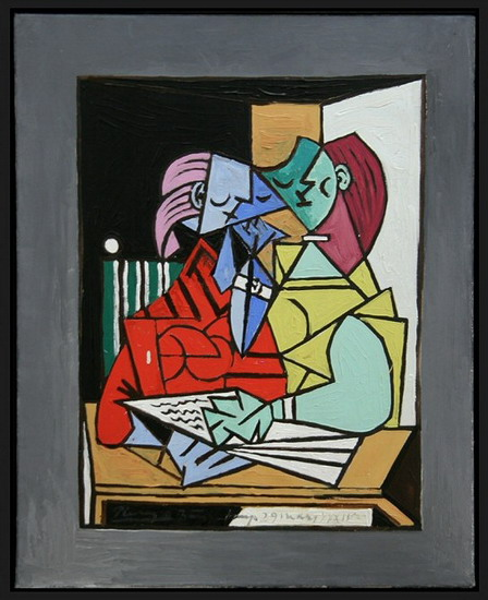 Pablo Picasso. Two characters, 1934