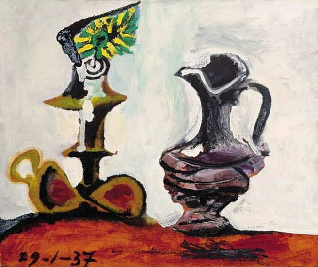 Pablo Picasso. Still life with the candle, 1937