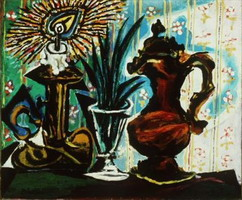 Pablo Picasso. Still life with candle