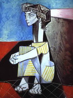 Pablo Picasso. Jacqueline with Crossed Hands, 1954