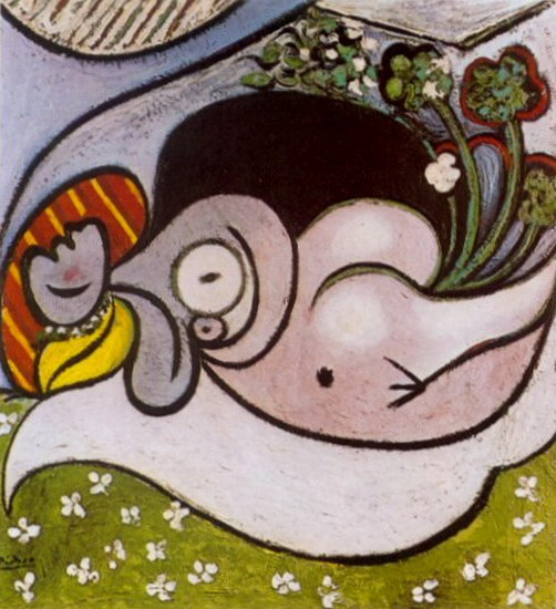 Pablo Picasso. Reclining Nude with Flowers, 1932