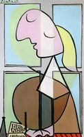 Pablo Picasso. Profile female bust