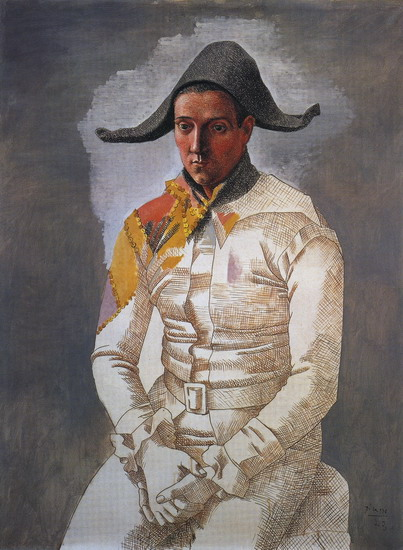 Pablo Picasso. Seated Harlequin (The Painter Jacinto Salvado), 1923