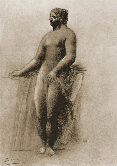Pablo Picasso. Nude female standing, 1909