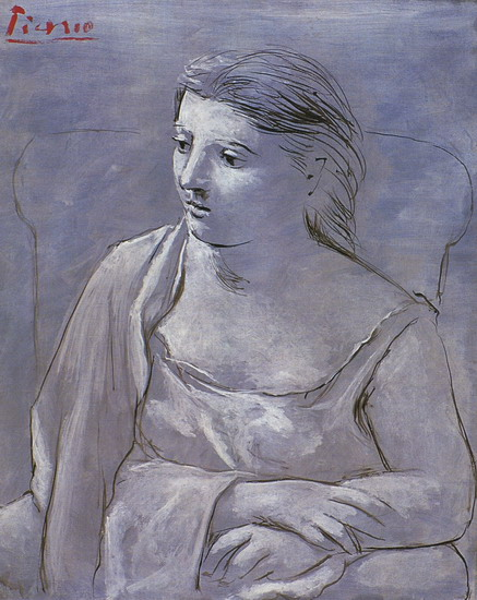 Pablo Picasso. Woman sitting in an armchair, 1920