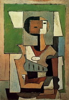 Composition with character [Woman with arms crossed]