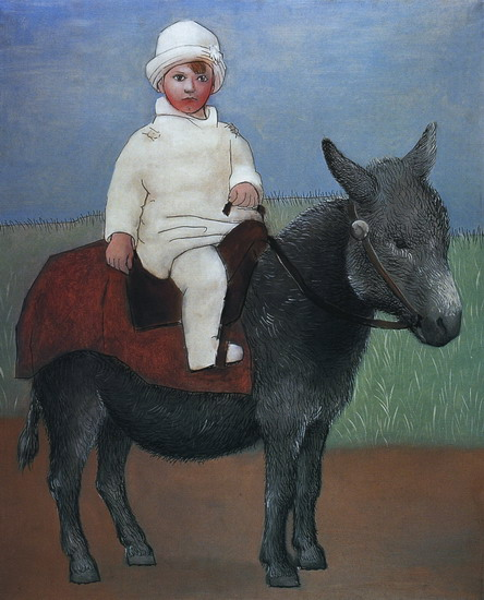 Pablo Picasso. Paul on a donkey, 1923