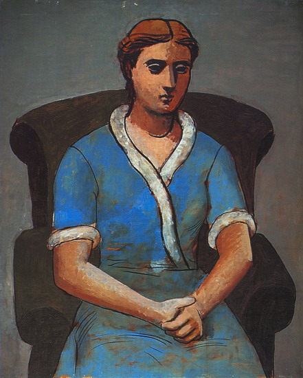 Pablo Picasso. Woman in an armchair (Olga), 1922