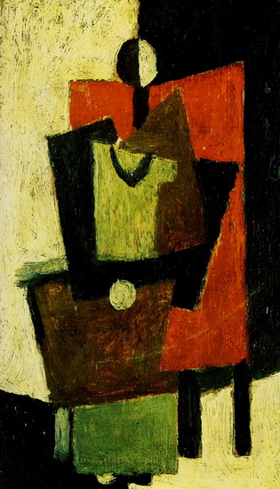 Pablo Picasso. Woman sitting in a red chair, 1918