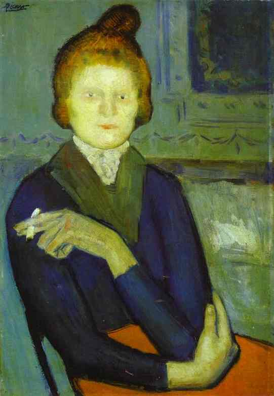 Pablo Picasso. Woman with a Cigarette, 1901
