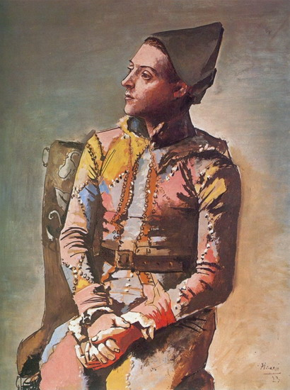 Pablo Picasso. Seated Harlequin (The Painter Jacinto Salvado) 1, 1923