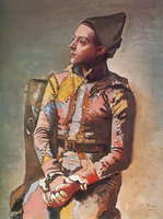 Pablo Picasso. Seated Harlequin (The Painter Jacinto Salvado) 1