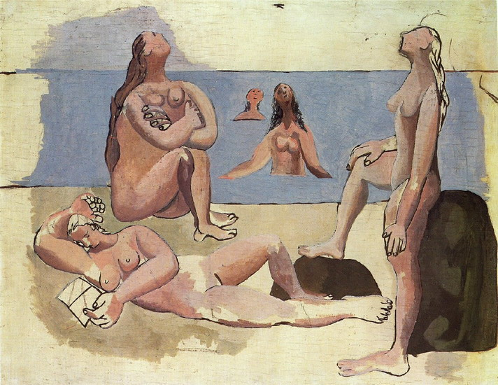 Pablo Picasso. Bathers watching a plane [Five Bathers], 1920