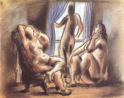 Pablo Picasso. three naked