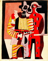 Pablo Picasso. Pierrot and Harlequin