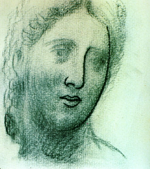 Pablo Picasso. Head of a Woman, 1944