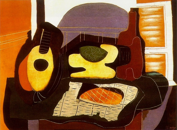 Pablo Picasso. Still life with cake, 1924