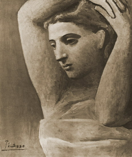 Pablo Picasso. Bust of a woman's arm leves, 1922