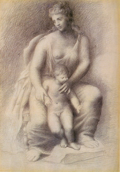 Pablo Picasso. Mother and Child, 1921