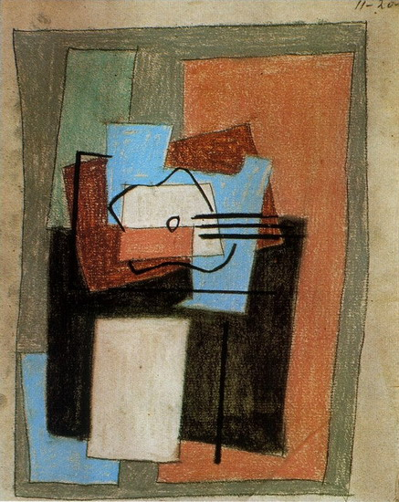 Pablo Picasso. Still Life with Guitar, 1920