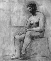 Pablo Picasso. Seated Nude, 1920