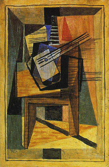 Pablo Picasso. Guitar on a table, 1919