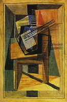 Pablo Picasso. Guitar on a table