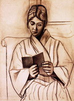 Pablo Picasso. Reading woman (Olga)