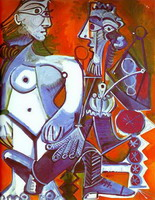 Pablo Picasso. Female Nude and Smoker