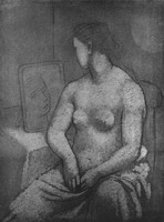 Pablo Picasso. Nude female sitting, 1923