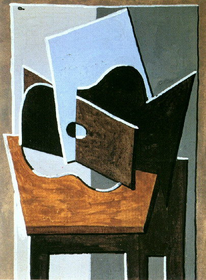 Pablo Picasso. Guitar on a table, 1920