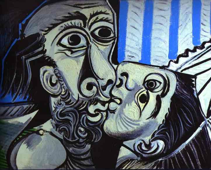 Pablo Picasso. The Kiss, 1969