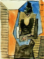 Pablo Picasso. Woman sitting in the flat cap